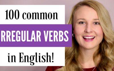 100 Common Irregular English Verbs