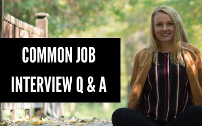 How to answer common interview questions?