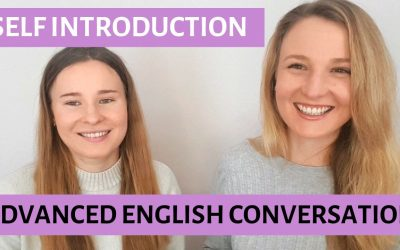 Advanced English conversation to learn how to introduce yourself in English.