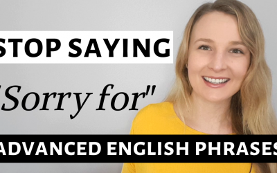 "Stop saying  ""Sorry for""!  Advanced English phrases to give bad news in English"