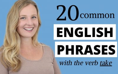 20 Common English Phrases with Take